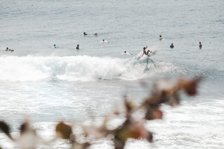 Surf break and line up in Bali