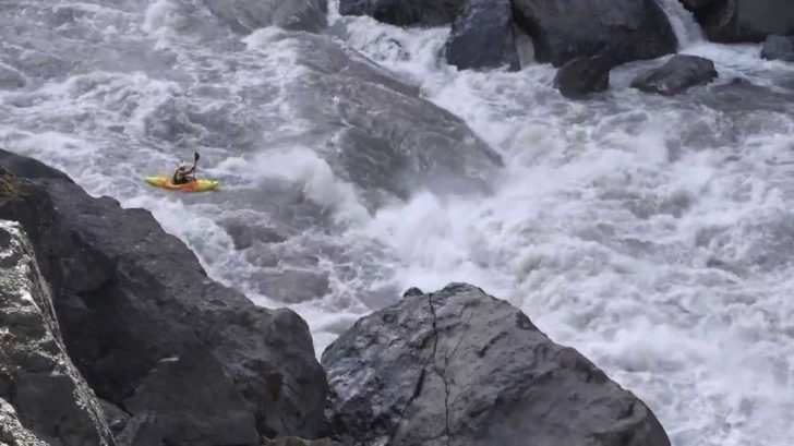 kayaker in Grand Canyon of the Stikine