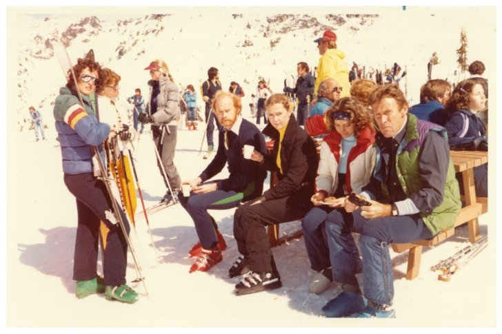 Group of skiers in the 60's