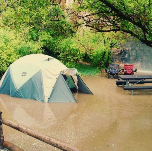 wet camping fail