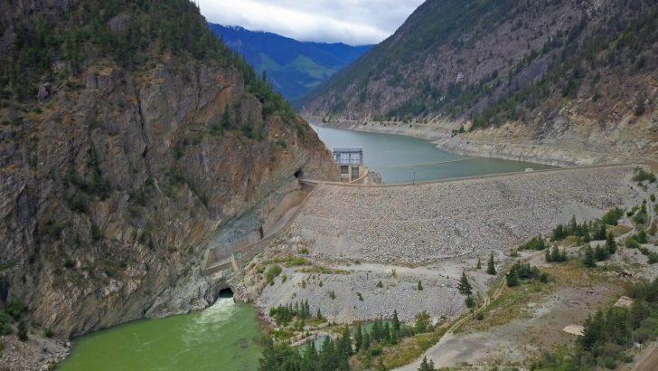 Dam on the Bridge River