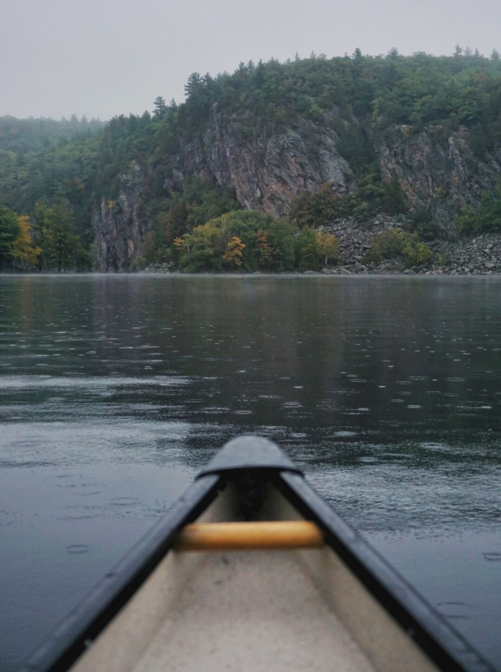 Canoeing on Mazinaw Lake