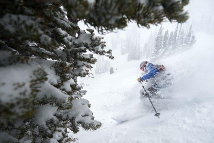 Powder skiing with CLIF Bar