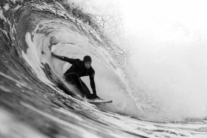 Balaram Stack surfing in Scotland