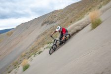 Brett Tippie biking in Kamloops