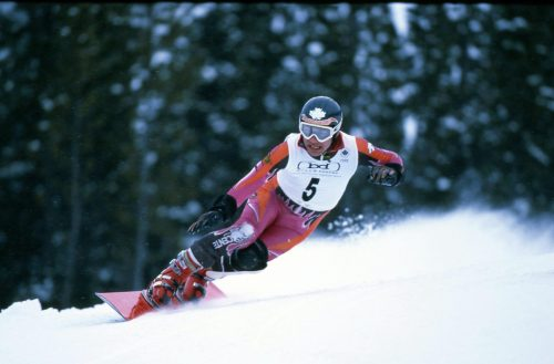 Professional Snowboarder Brett Tippie at Canadian Olympic Team Trial races.