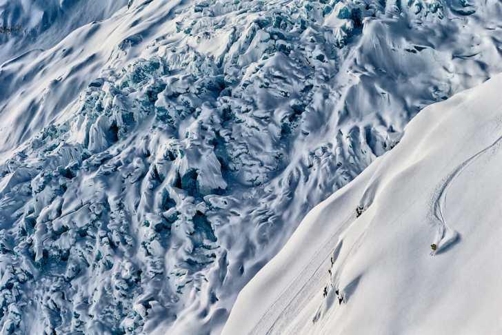 Josh Daiek skiing in Northern British Columbia with Last Frontier Heli-Skiing