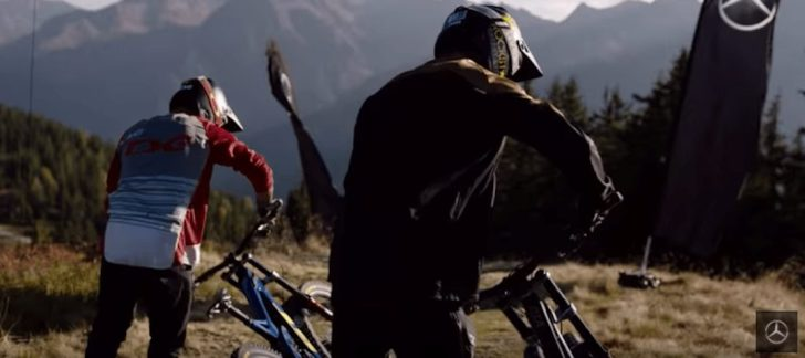 Bikers try to get the downhill world record