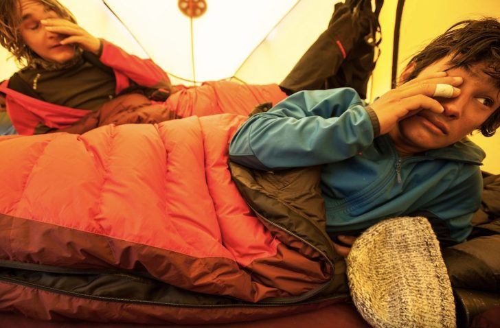 David Lama sleeping bag