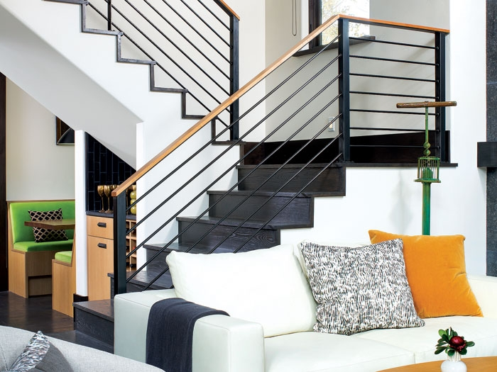 2 500 Square Foot Duplex Mountain Living   Duplex House Living Room Design Stairs   Outside Stair   Railing   Dining   Sala   Duplex Lobby
