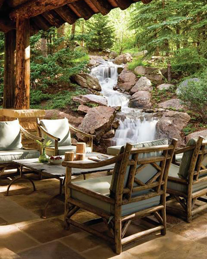 rustic patio furniture just in time for