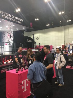 TMobile Booth on the MWCA Conference Show Floor