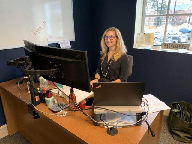 Belinda Desmond at Desk
