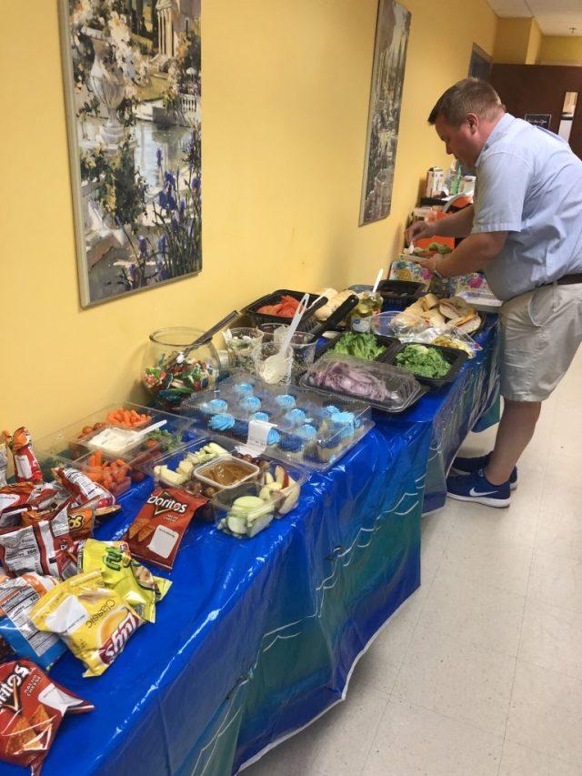Adam Cummiskey Hitting the Shark Buffet
