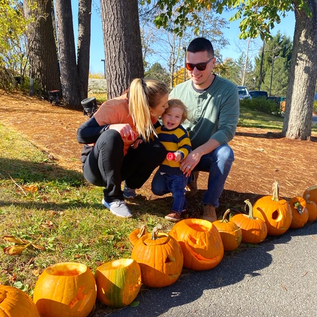 Jenna Obie and Family at Pumpkin Fest 2019
