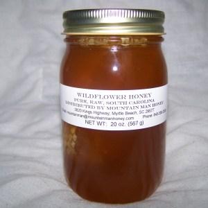 Wildflower Chunk Honey 20 oz. jar