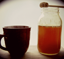Honey in tea