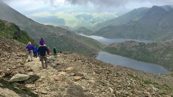 view down the trail of Mount Snowdon