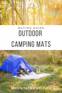 pinterest graphic for blog post on buying guide to outdoor camping mats