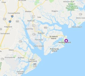 map location of hunting island campground