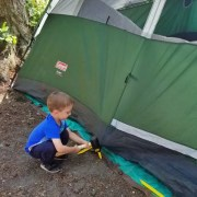 First time tent camping with kids blog post by Mountain Mat