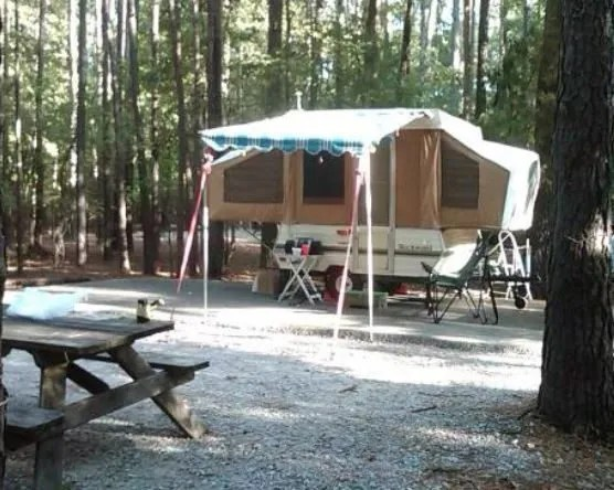 campsite at devils fork campground sc