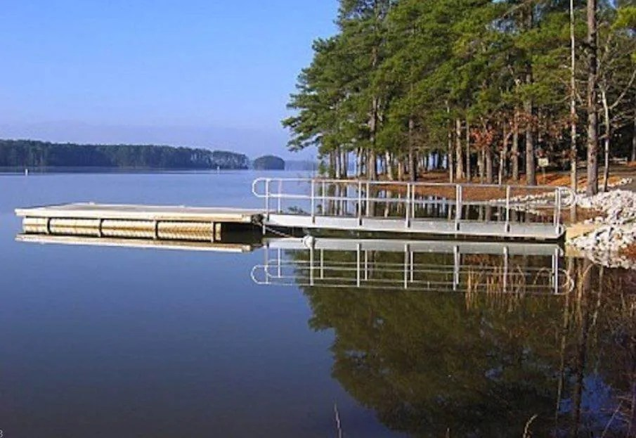 dock at hamilton branch campground