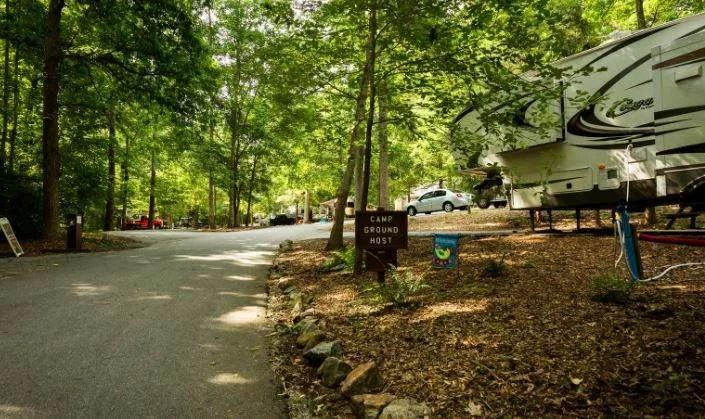 campsite at paris mountain campground