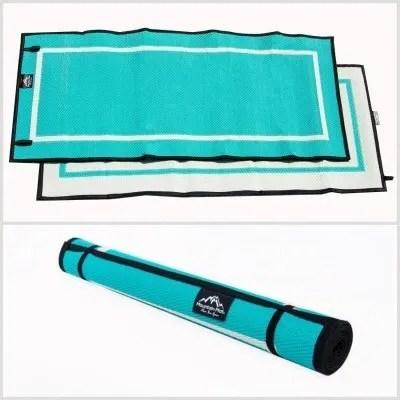 Mountain Mat Teal Caribbean Teal size 3 x 6 3x6 outdoor mat