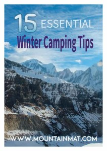 15 Essential Winter Camping Tips Blog Post Mountain Mat
