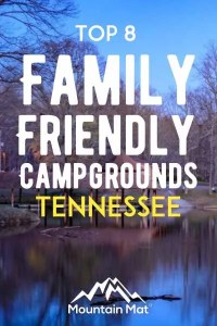 Pin for blog post on best campgrounds in Tennessee TN