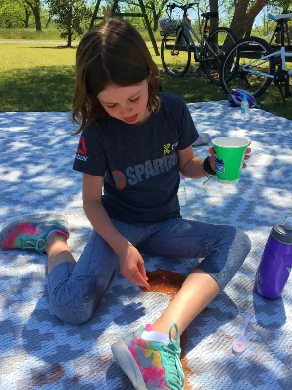 Mountain Mat waterproof picnic mat with spill