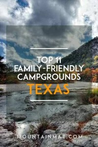 Pinterest Pin for blogpost Top Family Friendly Campgrounds and RV Resorts in Texas by Mountain Mat