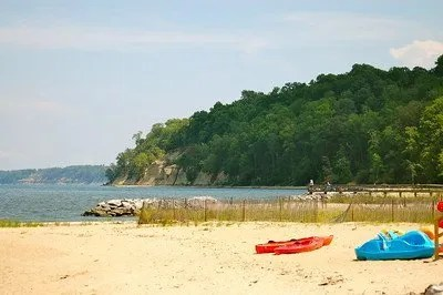 beach at westmoreland state park