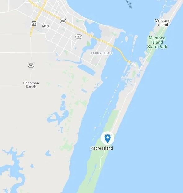 padre island map
