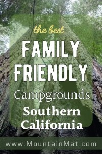 blogpost pinterest pin for family friendly campgrounds in south california