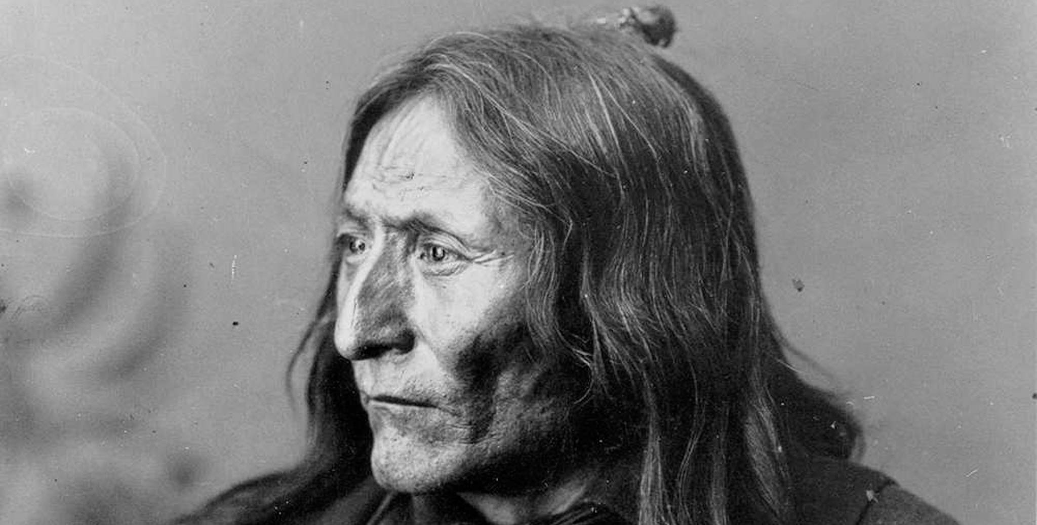 An Image of Chief Crowfoot of the Blackfoot.