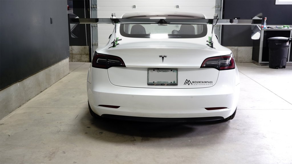 MPP GT wing mounted on our shop Model 3