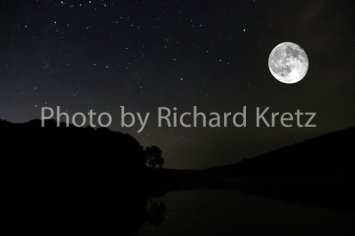 Moon over Hidden Valley Lake