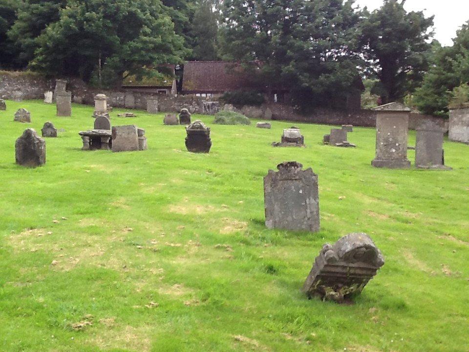 Cemetery in Falkland, Scotland