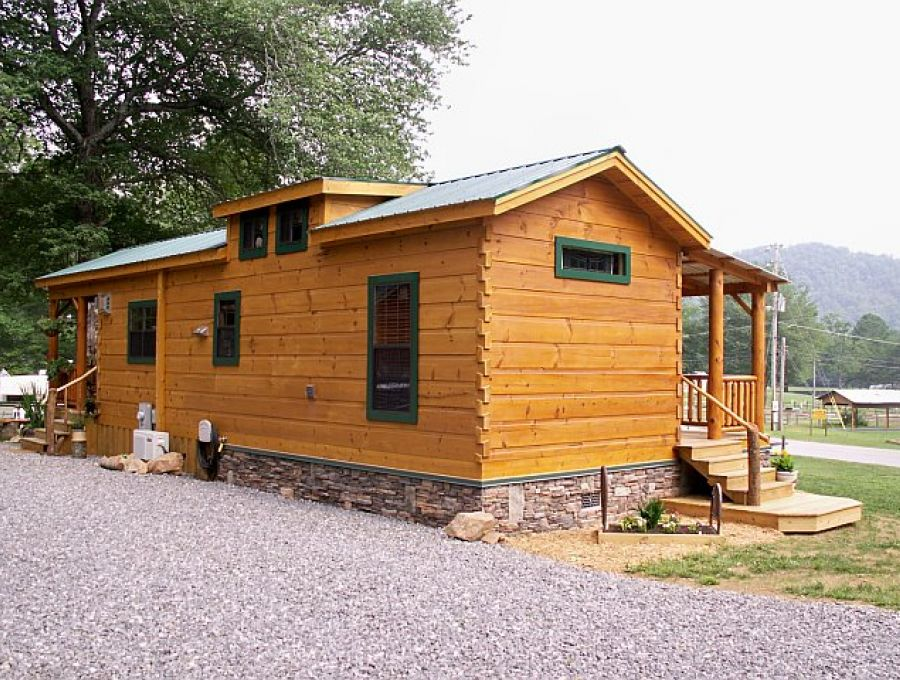 Modular log cabins rv park model log cabins 1 mountain for Rv log cabins