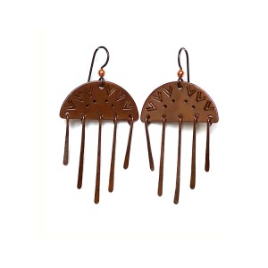 Dawn Dangles Copper Earrings