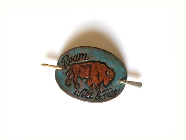 Small Leather Hair Clip - Wild & Free