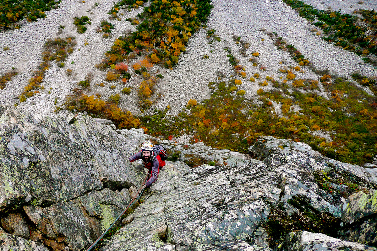 Rock Climbing on Cannon in the Fall