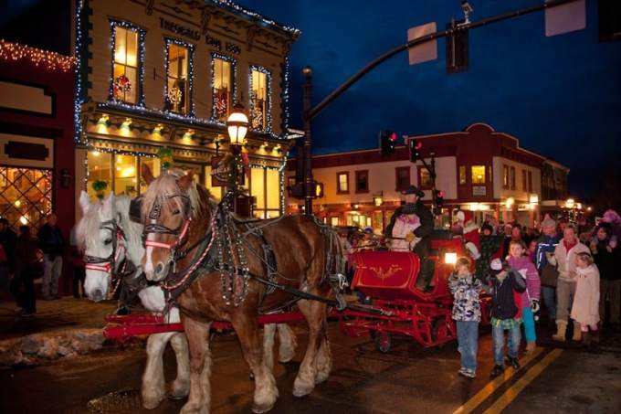 best colorado towns for christmas vacation peak 1 express