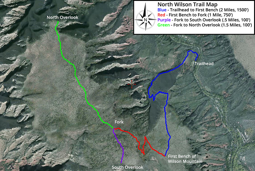 wilson mountain hiking trail map
