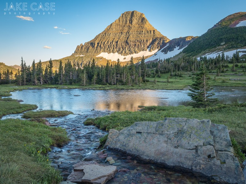 glacier national park pond