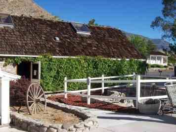Original vine covered bath house