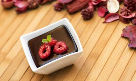 Chocolate Mousse With Festive Holiday Garnish
