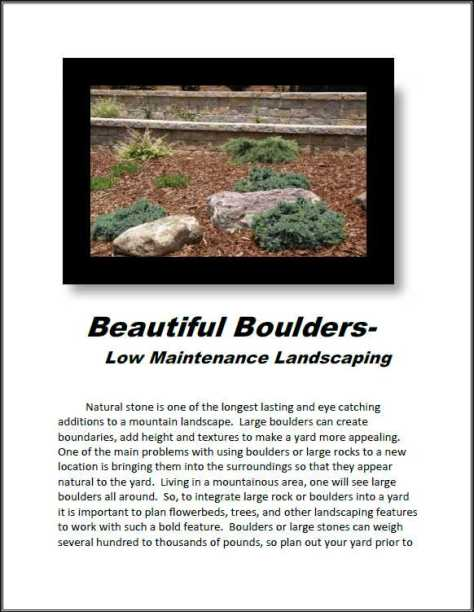 stone landscaping - beautiful boulders